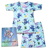 Books to Bed The Rainbow Fish Book & Pajama Shorts Set for Girls