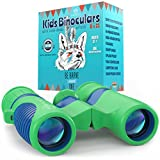 Binoculars for Kids 8x21 by Anzazo - Shock Proof Compact Binoculars Toy for Boys and Girls With High-resolution Real Optics - Best for Bird Watching, Travel, Safari, Adventure, Outdoor Fun