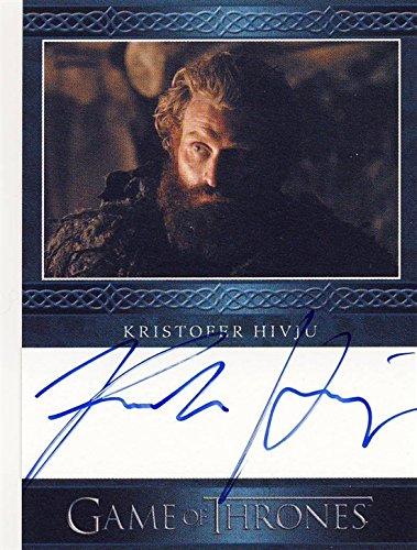2014 Game of Thrones Season 3 Autograph Card Kristofer Hivju as Tormund Giantsbane
