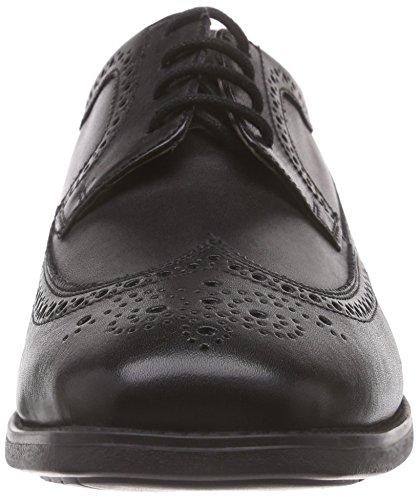 oxford de Roma zapato 001 cuero Manz Schwarz Negro hombre Schwarz dqtEwvx