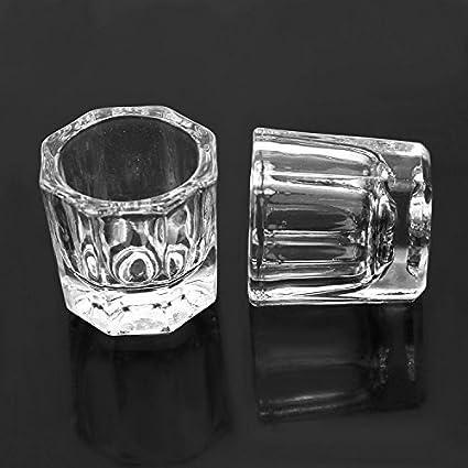 Hrhyme 2 piezas de zapato de cristal de Dappen incluye plato llano de/hueco con