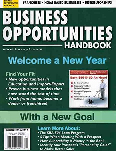 Business Opportunities Handbook Winter 2016/2017 pdf