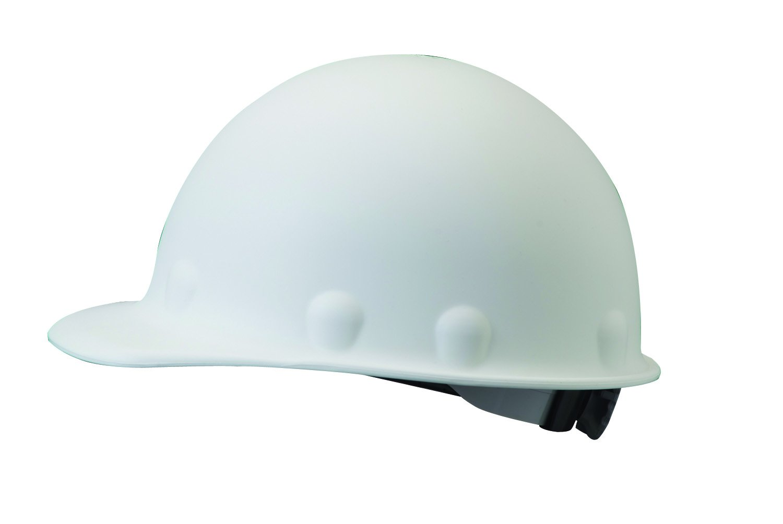 Fibre-Metal by Honeywell P2ARW01A000 Super Eight Ratchet Fiber Glass Cap Style Hard Hat, White by Honeywell
