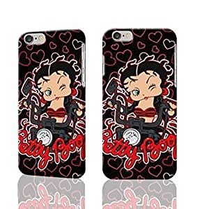 "Betty Boop And Motorcycle 3D Rough iphone 6 -4.7 inches Case Skin, fashion design image custom iPhone 6 - 4.7 inches , durable iphone 6 hard 3D case cover for iphone 6 (4.7""), Case New Design"
