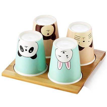 Taza de café Taza de cerámica Taza creativa Taza de 4 piezas Conjunto Taza en casa
