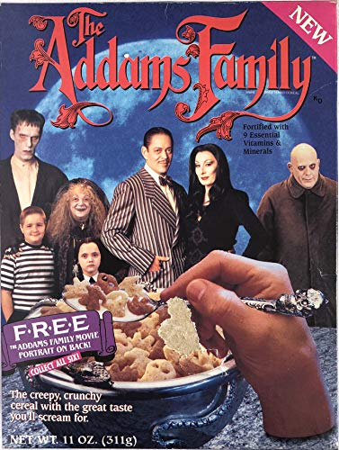 The Addams Family Cereal Box with Uncle Fester -