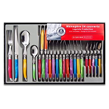 Laguiole Production 24-Piece Handle Set, Multicolor