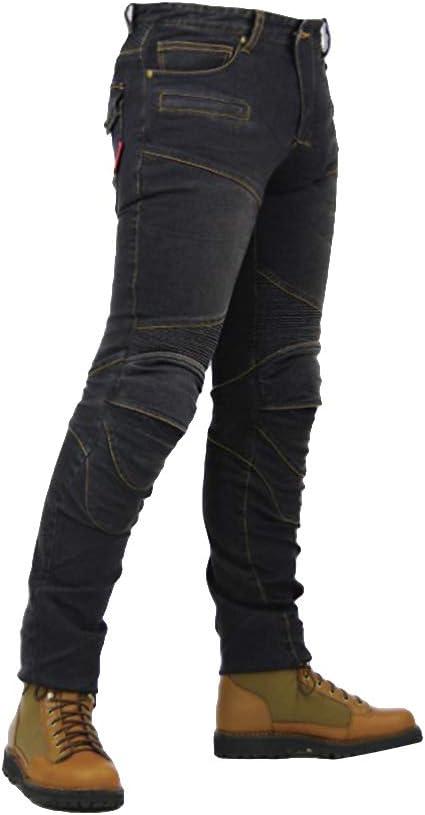 Youcai Herren Damen Motorradrüstung Motorradhose Stretch Slim Fit Sportliche Motorrad Jeans Mit Protektoren Schutzauskleidung M Schwarz Auto