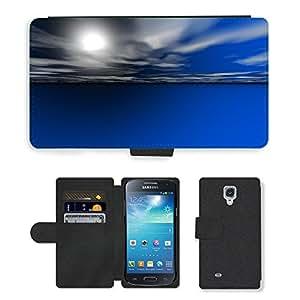 PU LEATHER case coque housse smartphone Flip bag Cover protection // M00150252 Mar del océano del agua del cielo Sun // Samsung Galaxy S4 Mini i9190
