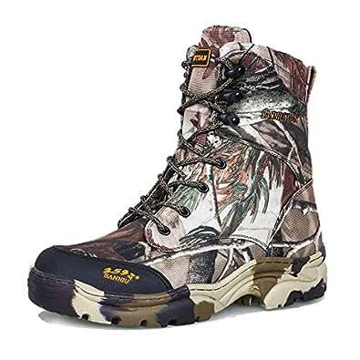 Botas De Combate Comando Táctico Al Aire Libre Caza Desierto Selva Camuflaje Botas Zapatos,Camouflage-39