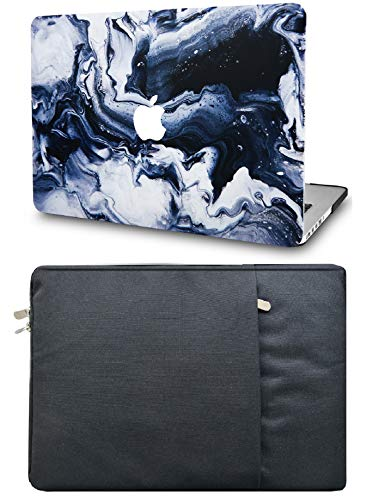 """KECC Laptop Case for MacBook Pro 13"""" (2020/2019/2018/2017/2016) with Sleeve Plastic Hard Shell A2289/A2251/A2159/A1989/A1706/A1708 Touch Bar 2 in 1 Bundle (Black Grey Marble)"""