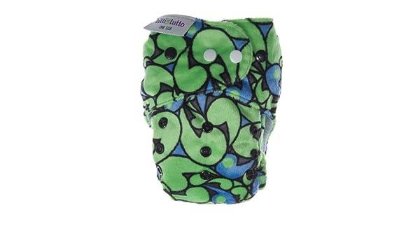 Itti Bitti Bitti Tutto - Pañal lavable (talla única), color verde/azul: Amazon.es: Salud y cuidado personal