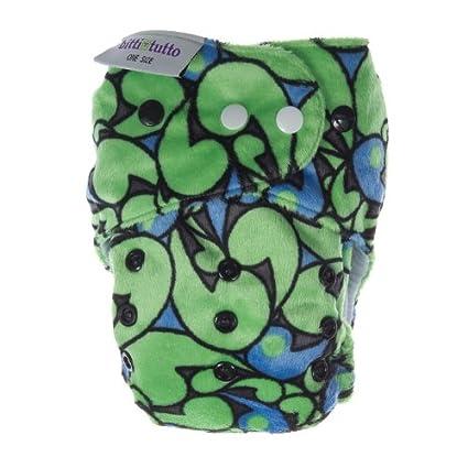 Itti Bitti Bitti Tutto - Pañal lavable (talla única), color verde/azul