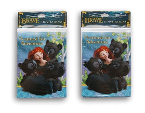Brave Merida Invitations Cards and Envelopes 2-Pack Set (16 total)