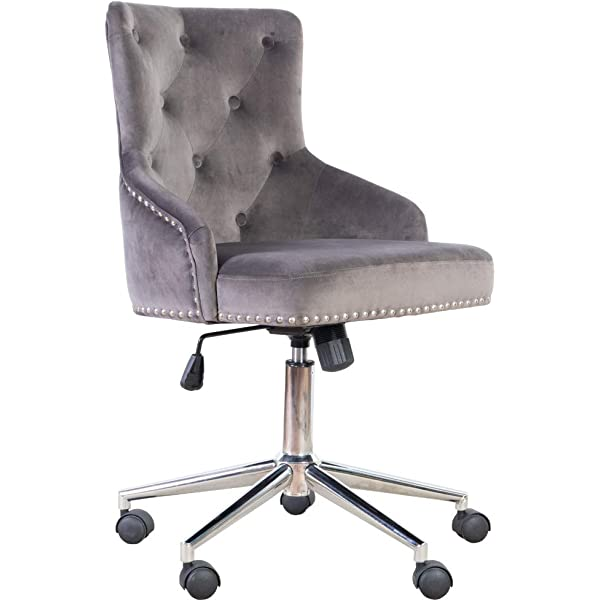Surprising Amazon Com Irene House Modern Mid Back Tufted Velvet Fabric Gmtry Best Dining Table And Chair Ideas Images Gmtryco