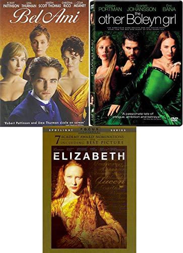 Intrigue, Romance and Betrayal Period Piece Movie Set The Other Boleyn Girl Scarlett Johansson + Elizabeth Cate Blanchett & Bel Ami (3 DVD- Romantic Triple Feature Movie Set)