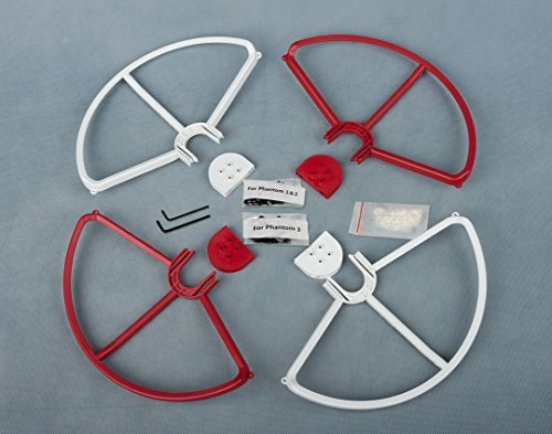 SummitLink-Snap-Onoff-Prop-Guards-2x-Red-2x-White-for-DJI-Phantom-1-2-3-Quick-Connect-Tool-Free
