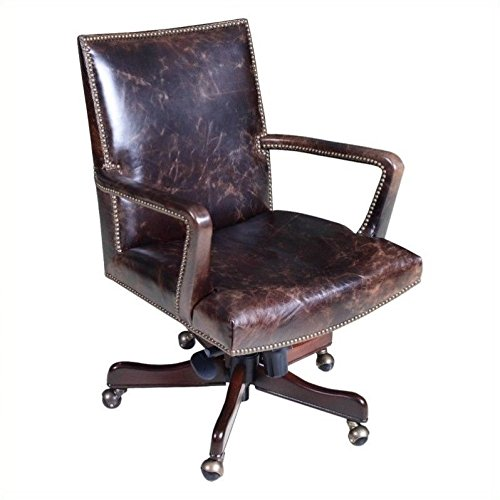 - Hooker Furniture Executive Leather Swivel Tilt Office Chair in Imperial Regal