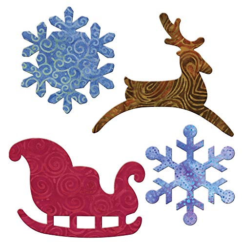 - AccuQuilt Go Fabric Cutting Dies It Fits, Sleigh and Snowflakes