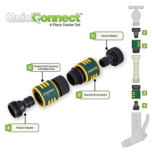 Melnor Quick Connect 4 Piece Garden Hose Kit