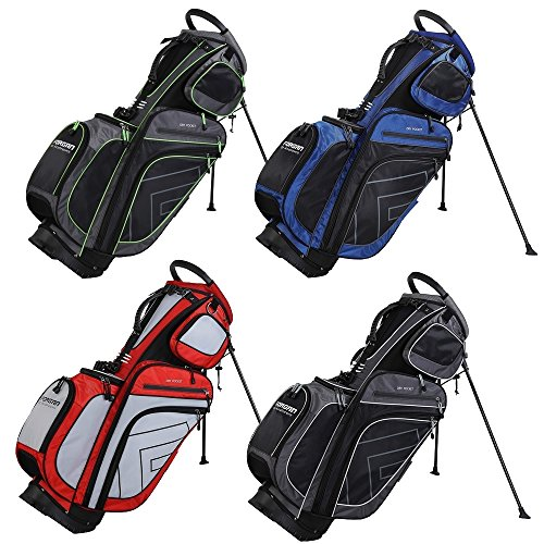 Forgan of St Andrews 14 Way Divider Hybrid Golf Stand / Cart Bag Grey/Green