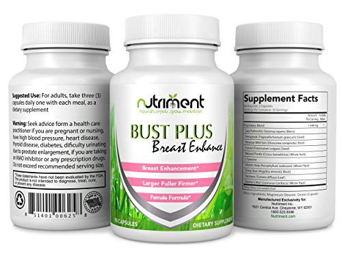 Breast Enhancement Pills- Increase Breast Size Naturally Without Surgery- Boost Your Breasts Size to The Fullest Potential- All-Natural Blend- Helps Promote Optimum Breast Size and Health- Get Larger (Best Breast Growth Pills)