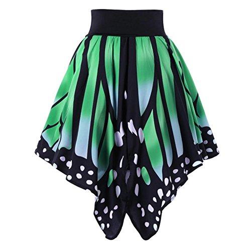 Papillon Jupes Vintage Automne Asymtrique Femmes Jupe Vert Mini Imprim t Slips yuxin nwqxHgYaa