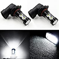 JDM ASTAR Extremely Bright Max 50W High Power H10 9145 LED Bulbs for DRL or Fog Lights, Xenon White