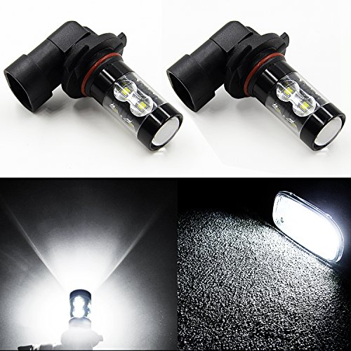 JDM ASTAR Extremely Bright Max 50W High Power H10 9145 LED Bulbs for DRL or Fog Lights, Xenon White (Led Headlights 05 Silverado compare prices)