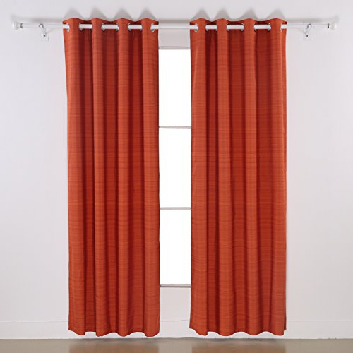 Deconovo Luxury Wood Look Striped Designed Jacquard Curtains for Living Room 1 Pair