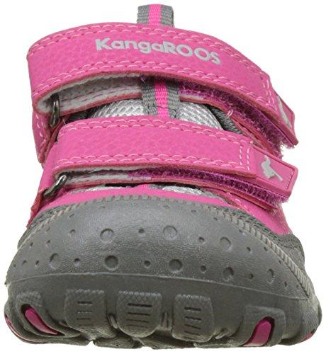 KangaROOS Kangaspeed X5 - Sandalias Punta Cerrada Unisex Niños Rose (Magenta/Lt Grey)