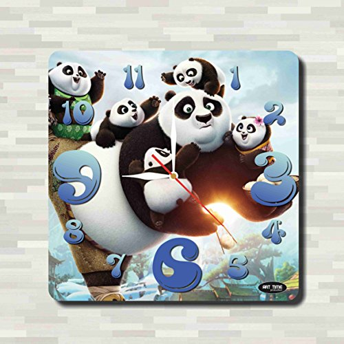 Kung Fu Panda 11.8'' Handmade unique Wall Clock - Get unique décor for home or office – Best gift ideas for kids, friends, parents - Tai Lung Costume