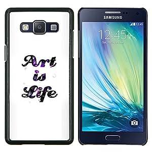 KLONGSHOP // Cubierta de piel con cierre a presión Shell trasero duro de goma Protección Caso - ARTE ES VIDA - Samsung Galaxy A5 A5000 //