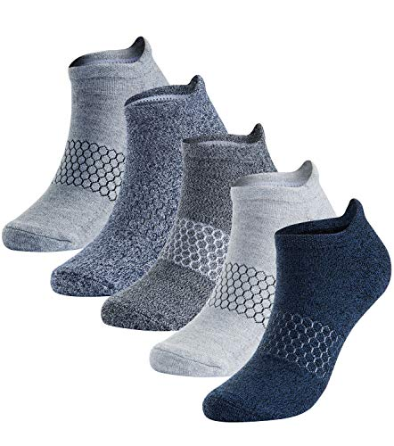 - Athletic Running Socks Low Cut No Show Sport Sock Arch Support 5 Pack