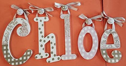 Letters Wall Toile - GLENNA JEAN MADISON CUSTOM HAND PAINTED WOODEN NURSERY WALL LETTERS-TOILE NURSERY LETTERS