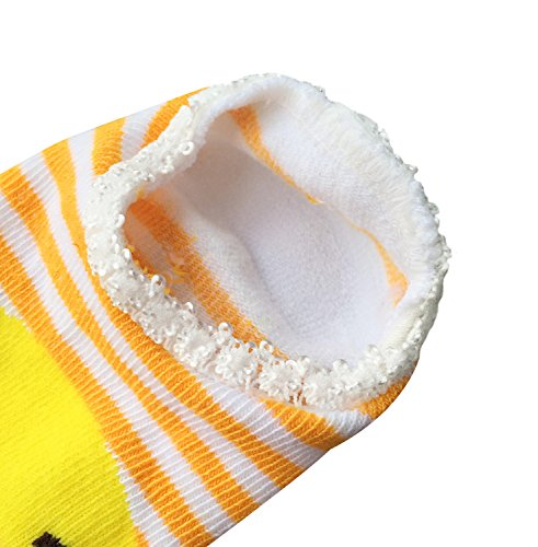 Bassion 10 Pairs Baby Socks Non Slip Newborn Infant Cute Baby Ankle Cotton Socks Skid Toddler Gripper Socks for 6-18 Months Gifts