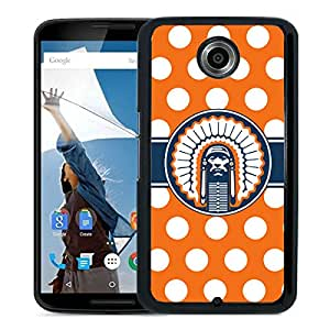 Ncaa Illinois Fighting Illini 18 Black Google Nexus 6 Protective Phone Cover Case