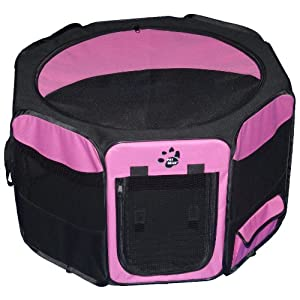 Pet Gear Travel Lite Octagon Pet Pen with Removable Top for Cat and Dog up to 60-Pound, 36-Inch, Pink Click on image for further info.