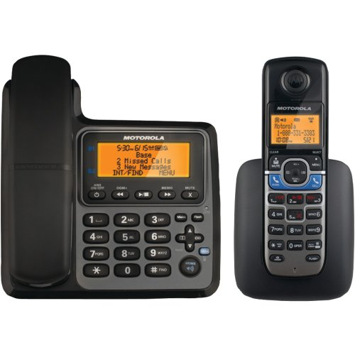MOTOROLA L702CBT DECT 6.0 Corded/Cordless 2-Handset Phone System with Bluetooth(R) Link electronic consumer