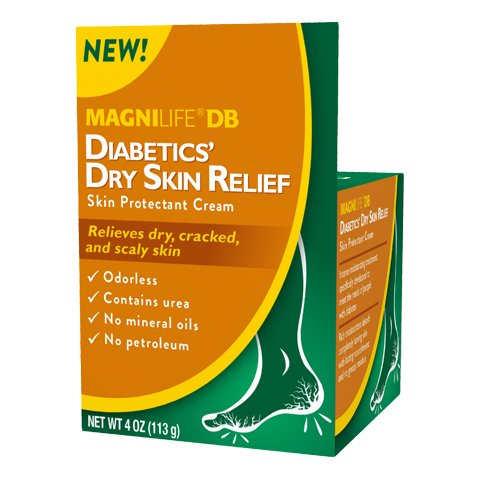 MagniLife Diabetes Dry Skin and Protecting Relief Cream: Dry, Cracked and Scaly Skin Treatment