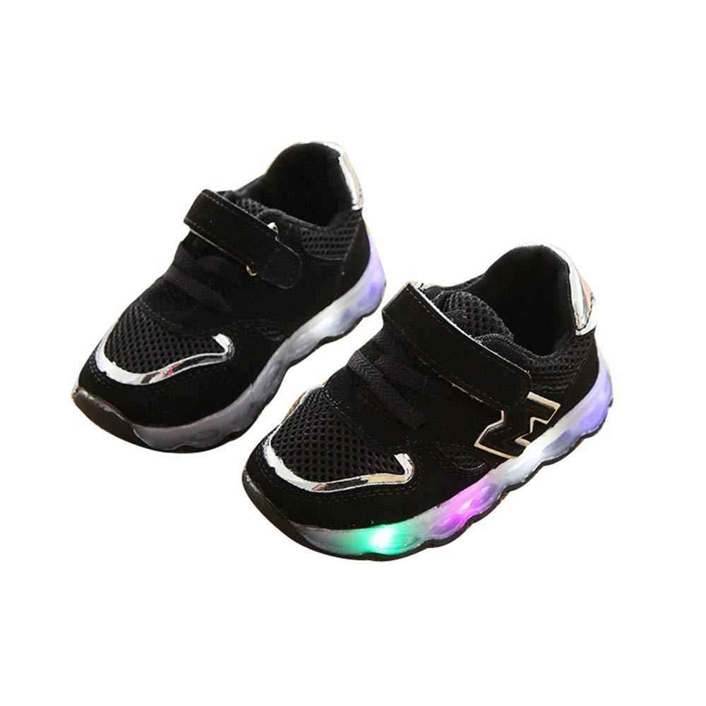 Super color Autumn Toddler Sport Running Baby Shoes Boys Girls LED Luminous Shoes Sneakers