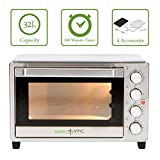 Simple Living Products SL-C32L 32L XL Convection Oven - Counter Top Compatible with Air Fryer Function