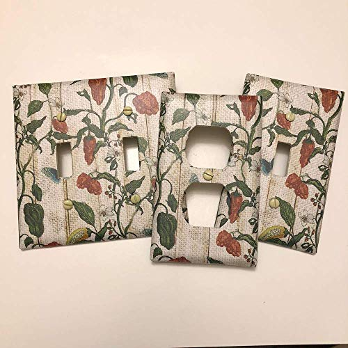 Cover Chili Peppers - Hot Chili Peppers on Vine, light plate cover,light switch plate, outlet cover, outlet plate, home decor