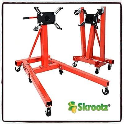 2000 lb Engine Motor Stand Hoist Auto Car Truck Automotive Folding Shop Jack by Skroutz