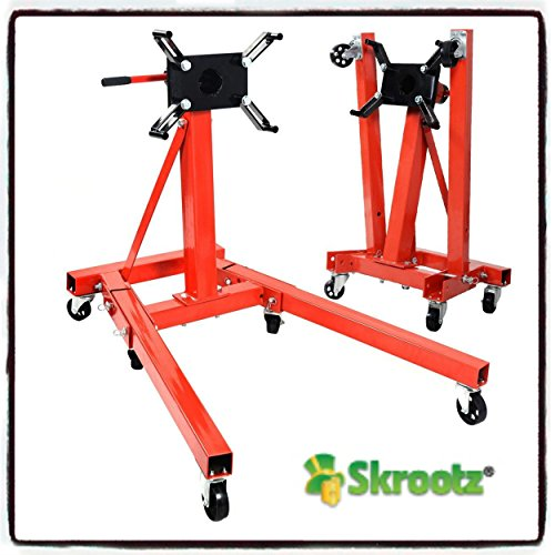 Skroutz 2000 lb Engine Motor Stand Hoist Auto Car Truck Automotive Folding Shop Jack