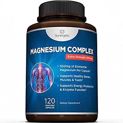 Premium Magnesium Citrate Capsules - Powerful 500mg Magnesium Oxide & Citrate Supplement - Helps Support Healthy Bones, Muscles, Teeth, Energy & Relaxation - 120 Vegetable Capsules