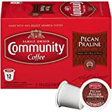 Community Coffee Pecan Praline Flavored, Medium Roast, 36 Count Single Serve Coffee Pods, (3 Boxes of 12 Pods), Compatible with Keurig K-Cup Brewers