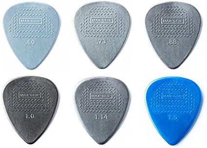 Dunlop NYLON Standard Max Grip Guitar Picks Plectrums 12 Pack choice of Gauges