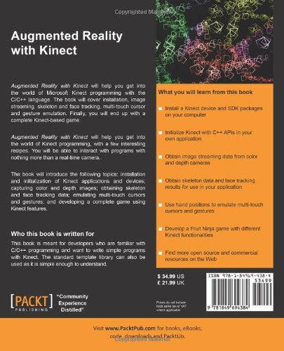 Augmented Reality with Kinect: Amazon.es: Rui Wang: Libros ...