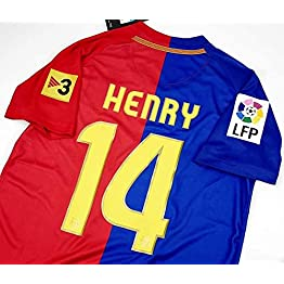 BROOK Thierry Henry#14 Barcelona Home Retro Maillot 2008-2009 Cull LA Liga Patch
